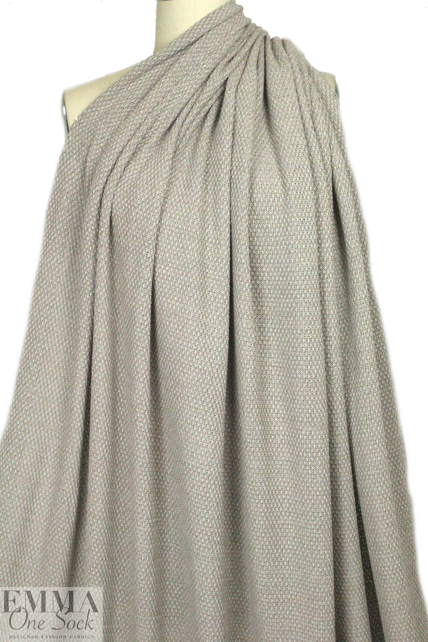 c129a6b63042 Fabric photo thumbnail. Fabric photo thumbnail. Italian warm gray knotted  stitch cotton sweater knit