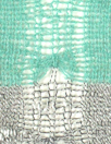 CA designer lacey, stripey open sweater knit - mint