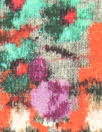 Italian fairisle bouquets viscose/lycra sweatery panel knit