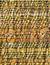 Italian cotton blend basketweave copper tones suiting .66 yds