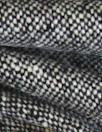 Italian black/white wool tweed suiting