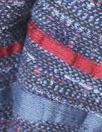 French denim/claret 'ribbon' stripe jacquard suiting