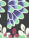Italian printed cotton/viscose twill - flowery graphic