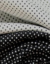 NY designer b/w dot cotton stretch reversible jacquard 1.5 yd