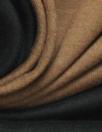 Italian double-sided cotton knit - nutmeg/black