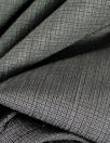 Va1entino virgin wool woven selvage suiting - gunmetal