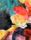 painterly abstract flowers stretch velvet