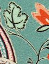 Italian 'daylily paisley' drapey viscose woven