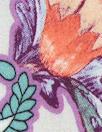Italian coral/wisteria paisley satin finish viscose woven