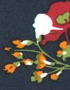 'les fleurs' drapey viscose woven - navy 1.25 yds