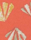 deco-leaf motif Oeko-Tex cert. viscose woven - tangerine