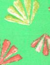 deco-leaf motif Oeko-Tex cert. viscose woven - lime