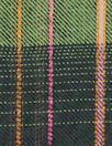 Italian fern/french roast viscose plaid drapey woven 1.625 yds