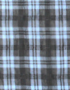 famous designer french blue/black sheer cupra plaid