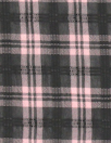 famous designer soft pink/black sheer cupra plaid