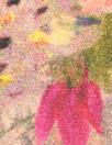 digital 'painterly bouquet' viscose crepe Oeko-Tex certified