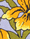 Italian 'yellow iris' viscose/linen lightweight woven