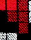 Italian tetris border viscose/spandex panel knit 1.75 yds
