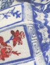 porcelain vase montage viscose/silk satin