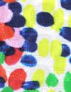 famous designer pointillistic viscose/silk jacquard woven