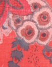 French digital cotton voile - red/gray floral