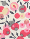 Liberty-esque cotton lawn - pink/gray stylized floral