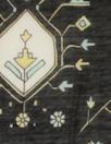 Caroline C0nstas 'deco doodle' cotton/silk voile - black