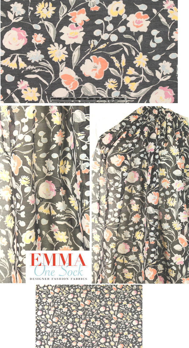 3a2424a12ff NY designer quiet floral silk cotton voile from EmmaOneSock.com