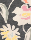 NY designer quiet floral silk/cotton voile