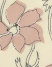 NY designer blush/almond floral silk/cotton voile