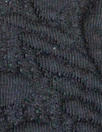 CA designer cable matelasse' knit - black