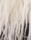 NY designer 'shaggy' long hair faux fur - pearly white