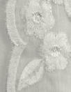 NY designer double scallop lace - soft white