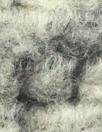 Italian wool boucle' - black/winter white