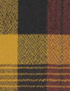 Italian virgin wool yarn dyed jacquard plaid - curry/brick