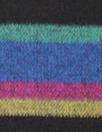 Italian wool doublecloth coating - colorful stripe