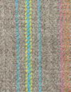 Italian all-wool driftwood multi-stripe suiting
