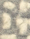 Italian light gray/natural dotted wool fleece knit