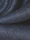 famous designer felted wool coating - navy melange