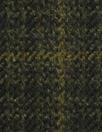 Italian olive-brown plaid wool/cashmere suiting