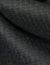 Italian jet black textured heavy wool coating