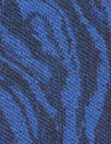 Italian wool/cotton swirl jacquard - royal/black