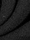 Italian black stretch wool doublecloth crepe