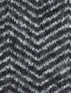Italian wool herringbone doubleknit - off black/white