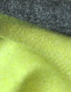Italian stretch wool doublecloth suiting - lime/charcoal