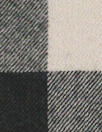 French yarn-dye plaid wool flannel - black/quarry