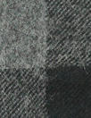French yarn-dye plaid wool flannel - black/gray