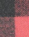French yarn-dye plaid wool flannel - black/rouge 1.375 yds