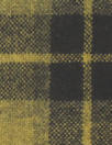 Italian yarn-dye plaid wool flannel - dijon/black