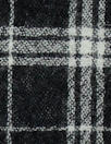 Japanese yarn dyed plaid wool gauze - black/white